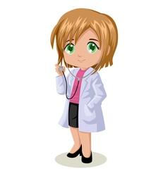 Cute cartoon of a doctor vector image