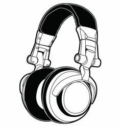 dj headphones vector image vector image