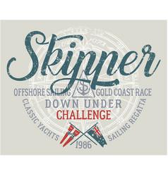 Offshore sailing challenge vector