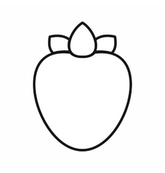 Ripe persimmon icon outline style vector image vector image