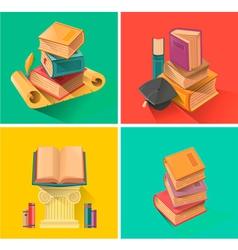Set of book in flat design vector