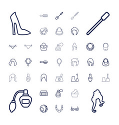 37 glamour icons vector