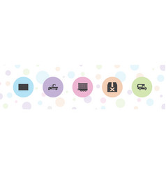 5 deliver icons vector