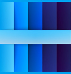 Abstract blue rectangle shapes background vector