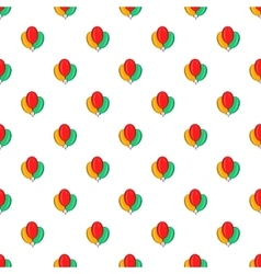 Air balloons pattern cartoon style vector