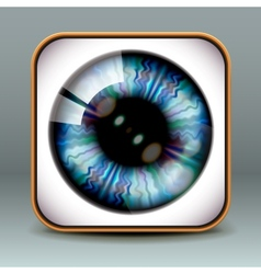 App design eye icon vector