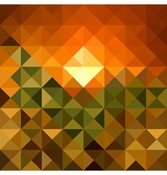 Autumn season triangle seamless pattern background vector image
