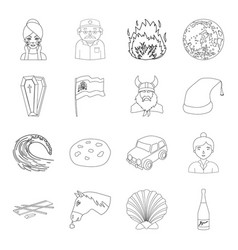 beauty medicine history and other web icon in vector image