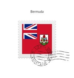 Bermuda Flag Postage Stamp vector