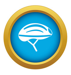 Bicycle helmet icon blue isolated vector