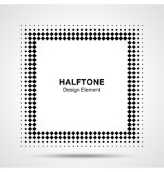 Black Abstract Halftone Square Frame Background vector