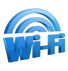 Blue wifi icon vector image