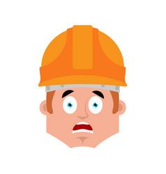 builder scared emotion avatar worker in vector image