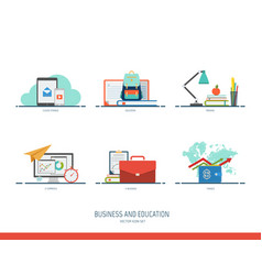 business and education icon vector image