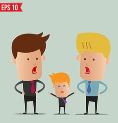 Business man discussion - - EPS10 vector image