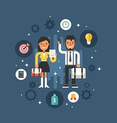 Business People Male and Femelae Cartoon vector