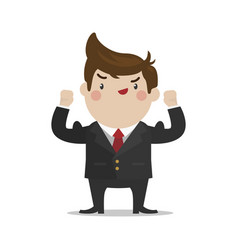 businessman strong vector image