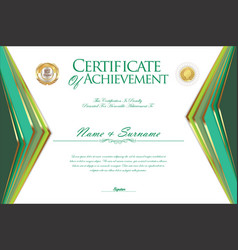 certificate or diploma design template 4 vector image