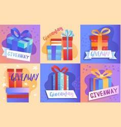 christmas gift giveaway store promotions vector image