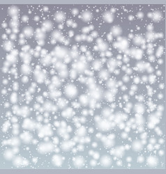 christmas snow background vector image