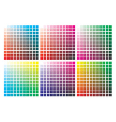 Color palette on a4 format vector