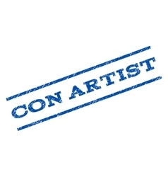 Con Artist Watermark Stamp vector