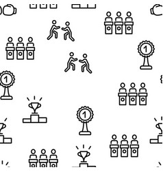 contest sport activity seamless pattern vector image