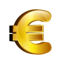 Currency money eur symbol icon over white vector