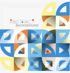 Cut paper circles mosaic mix geometric pattern vector