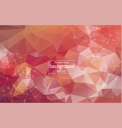 dark red background with dots and lines glitter vector image