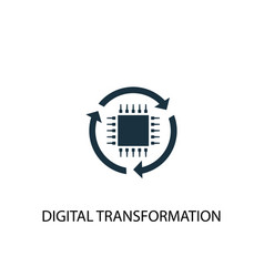 digital transformation icon simple element vector image