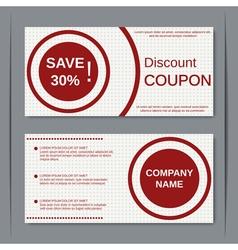 Discount coupon design template vector