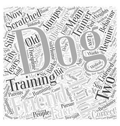 Dog obedience training Word Cloud Concept vector