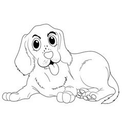 Doodle animal for cute dog vector