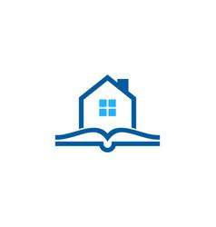 Estate book logo icon design vector