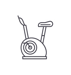 exercise bikes line icon concept exercise bikes vector image