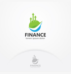 finance logo vector image