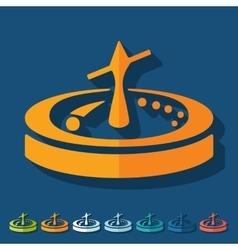 Flat design roulette vector