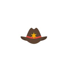 flat icon sheriff hat element vector image