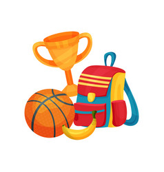 flat items related to school and education vector image