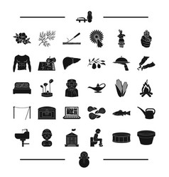 food profession and other web icon in black style vector image