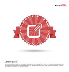 full screen icon - red ribbon banner vector image