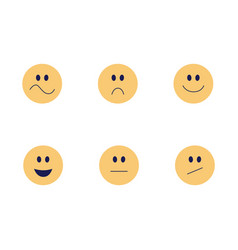 funny emoji smiles flat icon set vector image