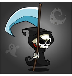 Grim reaper cartoon character vector