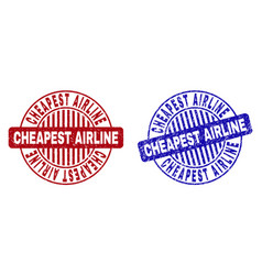 Grunge cheapest airline scratched round stamp vector