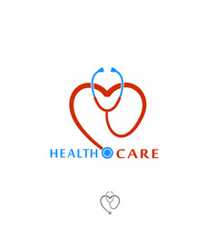 Health care icon logo tonometer with heart vector
