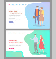 how to build happy relationship couple in love vector image