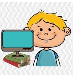 Kids screen book icon vector