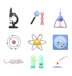 lab symbols test medical laboratory scientific vector image