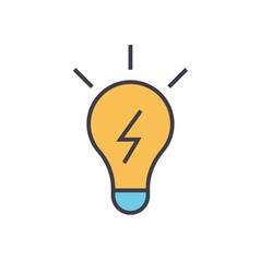 Lamp idea concept line icon editable vector